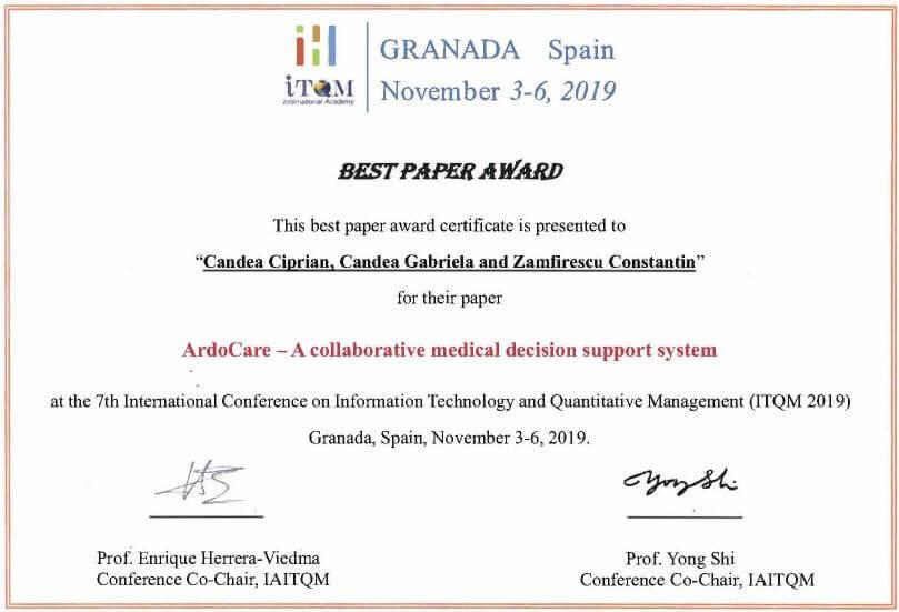 ArdoCare_Best Paper Award 2019